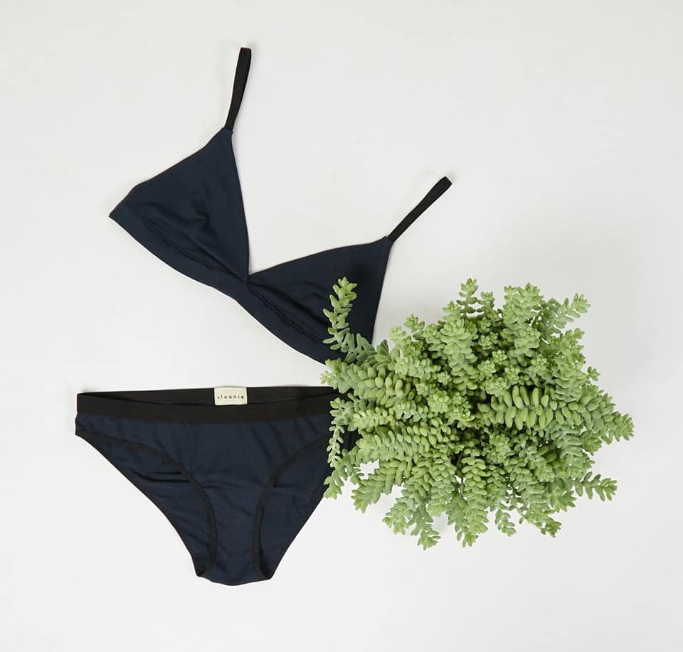 Underwear on a flatlay