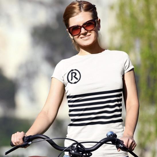 White woman wears Rubbish London t-shirt