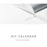 Ethical Influencers - Content Calendar 2021 - DIY Calendar