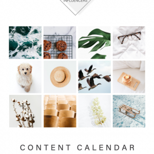 Ethical Influencers - Content Calendar 2021 Cover