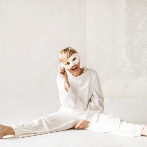 Woman wears Feel Good Couture garments