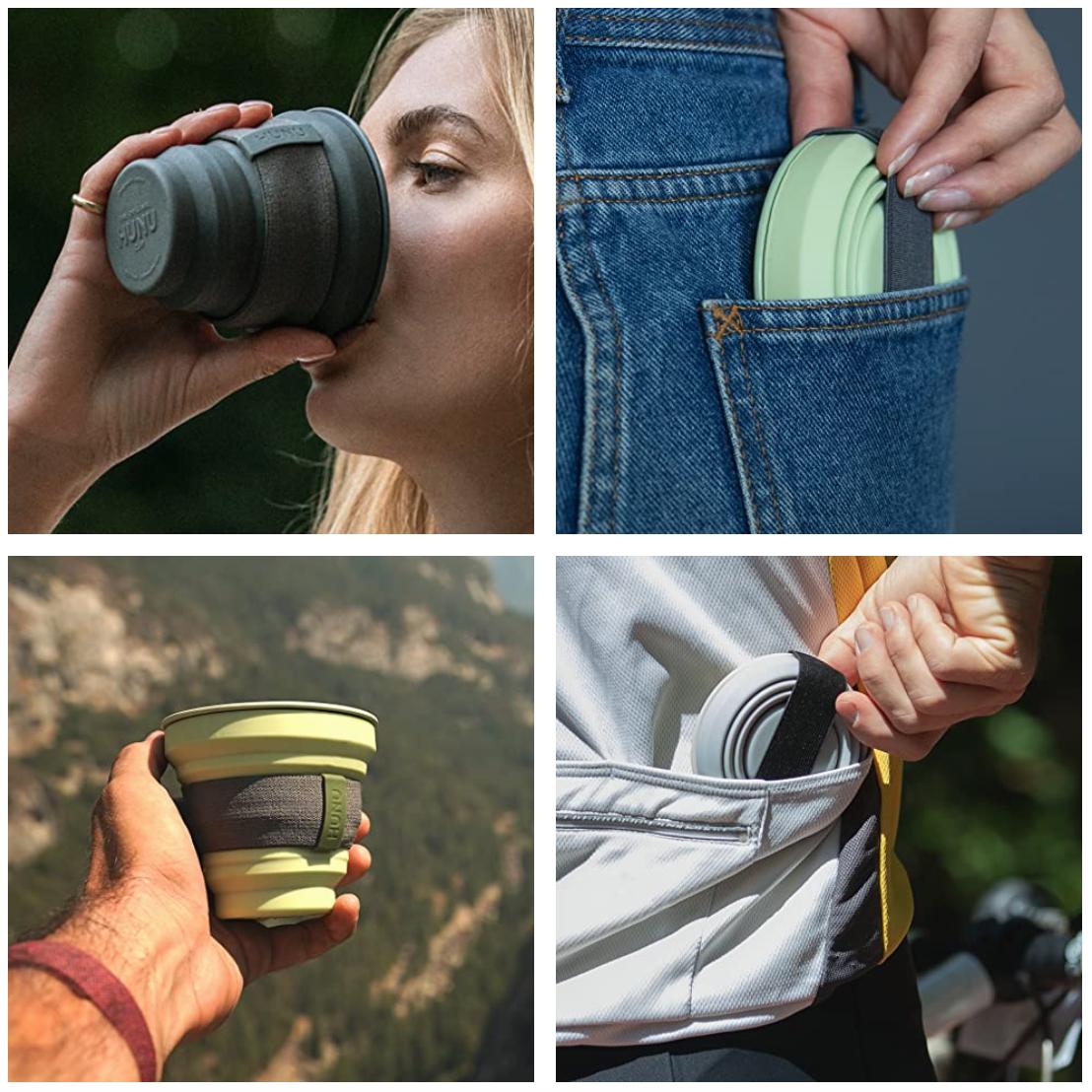 Gallery of four HUNU reusable cups