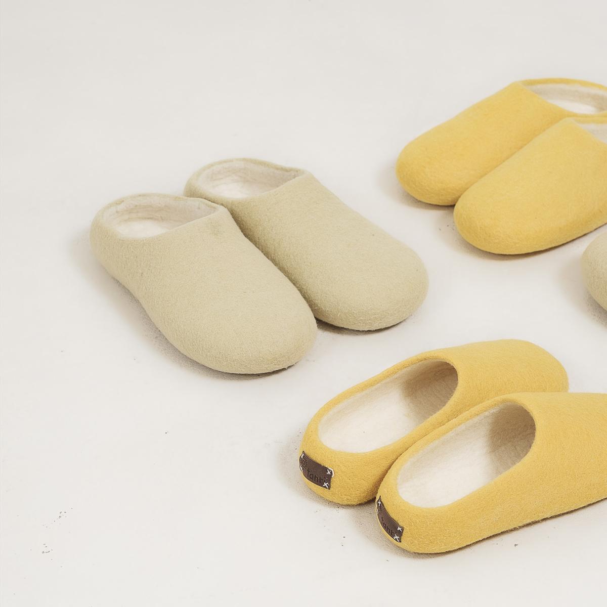 Three pairs of Tanri slippers