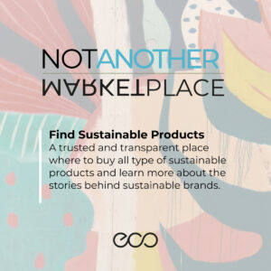 """ECo Poster """"Not Another Marketplace"""""""