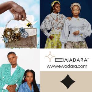 Collage of Ewadara fashion items