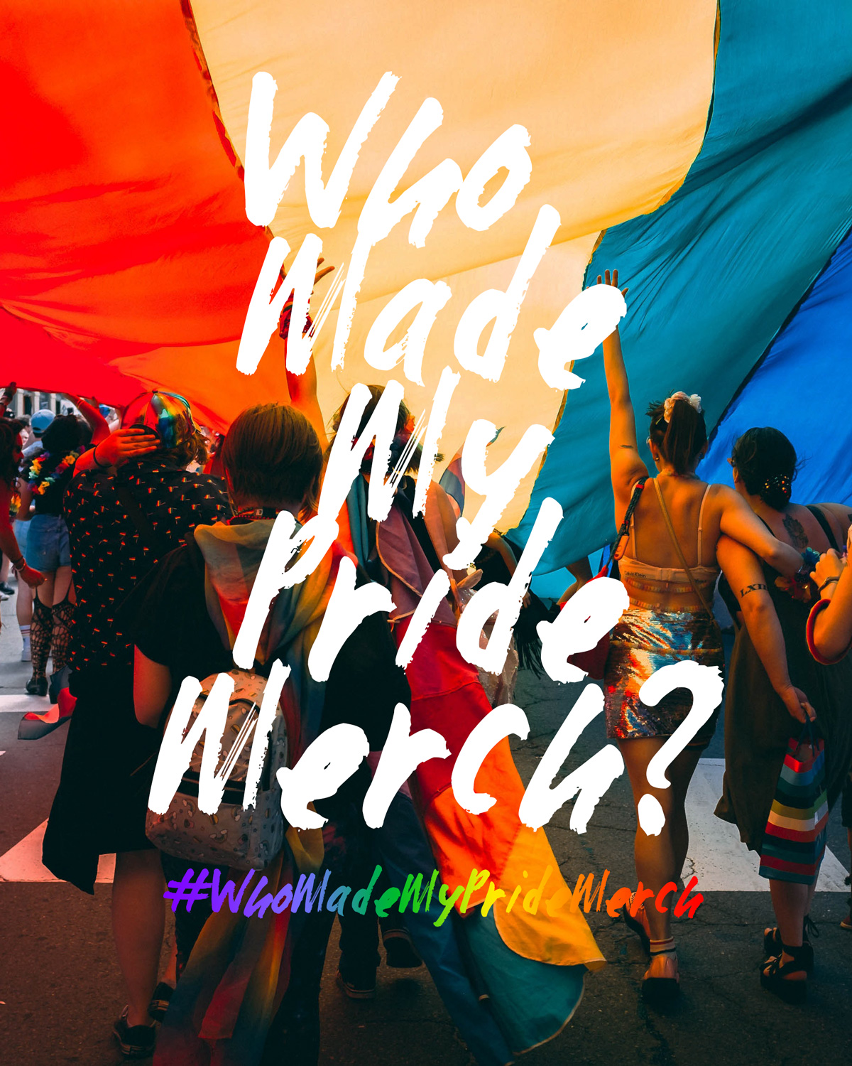 Who Made My Pride Merch Poster