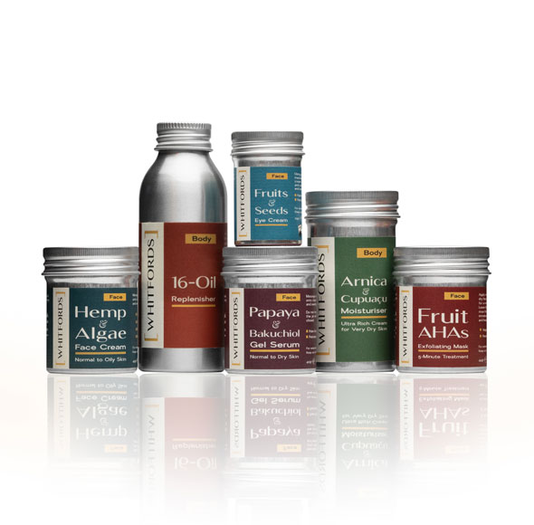 Whitfords products against white background